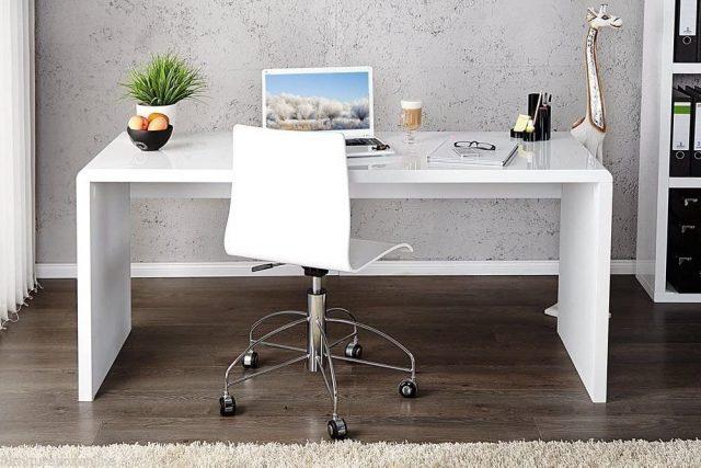 enzo white gloss desk
